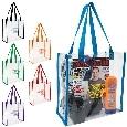 Custom Clear PVC Shopping Tote Bags