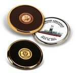 Custom Coasters - Individual Gold or Silver Round