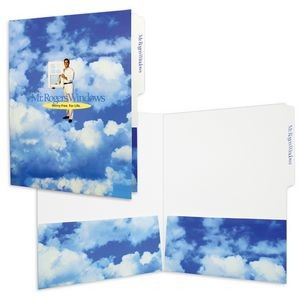 "File Tab Folder with with 2 Pockets (9"" x 11-3/4"") printed full color 4/0"