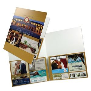 "Large Presentation Folder with 2 Tall Pockets (9""x12"") printed in full color 4/0"