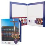 Custom Presentation 2 Pocket Folder w/ Reinforced Side & Top Edges (9 1/2