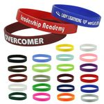 Custom Silicone Wristband -- 1/2