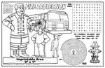 Custom Fire Protection - Imprintable Colorable Placemat
