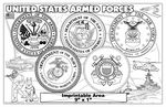 Custom United States Armed Forces - Imprintable Colorable Placemat