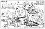Custom Train Travels - Imprintable Colorable Placemat