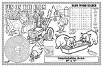 Custom Fun on the Farm - Imprintable Colorable Placemat