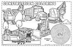 Custom Construction Coloring - Imprintable Colorable Placemat