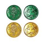 Custom Lucky Leprechaun Plastic Coins w/ Embossed Design