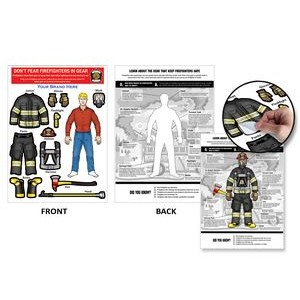 Fireman Dress-Up Peel-N-Place (Caucasian Male)