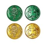 Custom Lucky Leprechaun Plastic Coins w/ Embossed Design