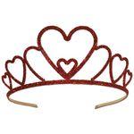 Custom Glittered Metal Heart Tiara