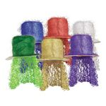 Custom Tinsel Top Hat w/ Curly Wig