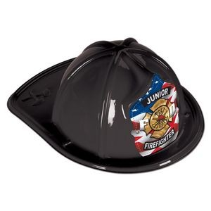 Black Plastic Jr Firefighter Hats (CLEARANCE)