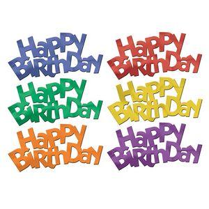 Custom Jumbo Happy Birthday Fanci Fetti