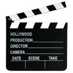 Custom Movie Set Clapboard w/ Chalk