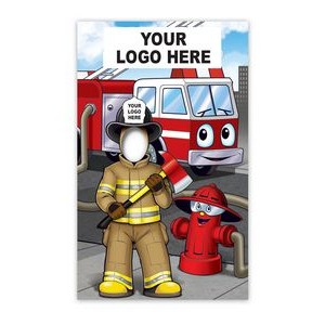 Custom Printed Corrugated Plastic Fire Department Photo Prop