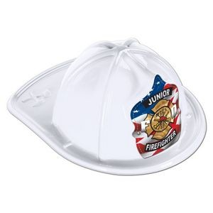 White Plastic Jr Firefighter Hats (CLEARANCE)