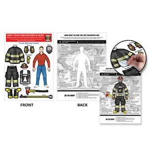 Firewoman Dress-Up Peel-N-Place (Caucasian Female)
