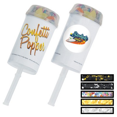 Push Up Multi-Color Confetti Poppers w/ Custom Printed Decal