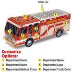 Custom Paper Rescue Fire Truck