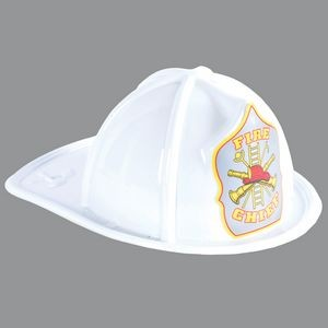 White Plastic Fire Chief Hat (CLEARANCE)