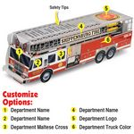 Custom Paper Ladder Fire Truck