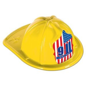 Yellow Plastic 9*11 Never Forget Fire Hats (CLEARANCE)