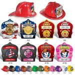 Custom Plastic Fire Hats w/ Custom Imprinted Paper Shields