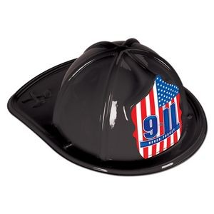 Red Plastic 9*11 Never Forget Fire Hats (CLEARANCE)