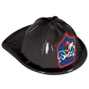 Black Plastic Jr Fire Chief Hats (CLEARANCE)