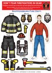 Custom Fireman Dress-Up Peel-N-Place (Caucasian Female)