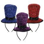Custom Sparkling Top Hat Headbands