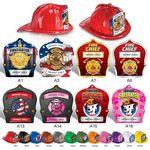 Custom Plastic Fire Hats w/ Custom Imprinted Paper Shields