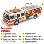 Custom Paper Fire Truck