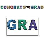 Custom Multicolor Glittered Congrats Grad Streamer