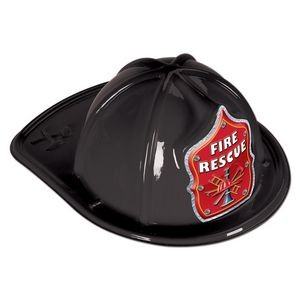 Black Plastic Fire Rescue Hats (CLEARANCE)