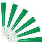 Custom Green Foil Party Horns