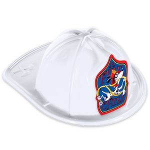 White Plastic Fire Chief Hats (CLEARANCE)