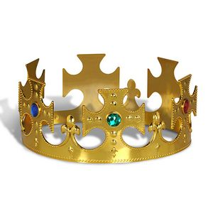 Custom Plastic Jeweled Kings Crown