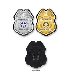 Plastic Police Badge w/ a Complete Custom Decal