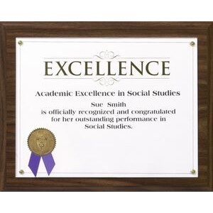 Walnut Composite Traditional Certificate Plaque Kit