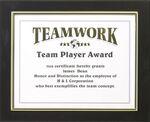 Custom Black/Silver Frame Featherlite Modular Office Plaque (11