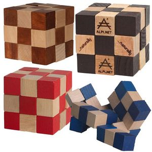 Elastic Cube Puzzle in Wood