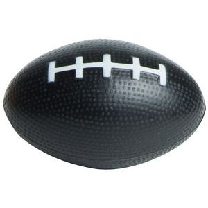 Black Football Squeezies® Stress Reliever