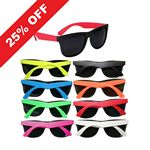 Custom Two Tone Sunglasses - 8 Colors