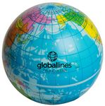 Custom Printed Globe Squeezies Stress Reliever