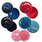 Custom Plush Circle Gel Beads Hot/ Cold Pack