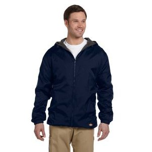Williamson-Dickie Mfg Co Men's Fleece-Lined Hooded Nylon Jacket