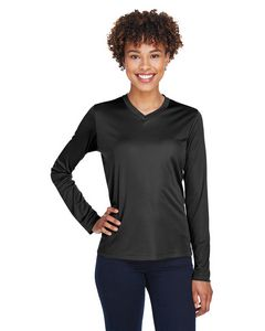 Custom Team 365 Ladies' Zone Performance Long-Sleeve T-Shirt