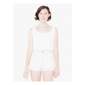 American Apparel Ladies' Poly-Cotton Loose Crop Tank Top
